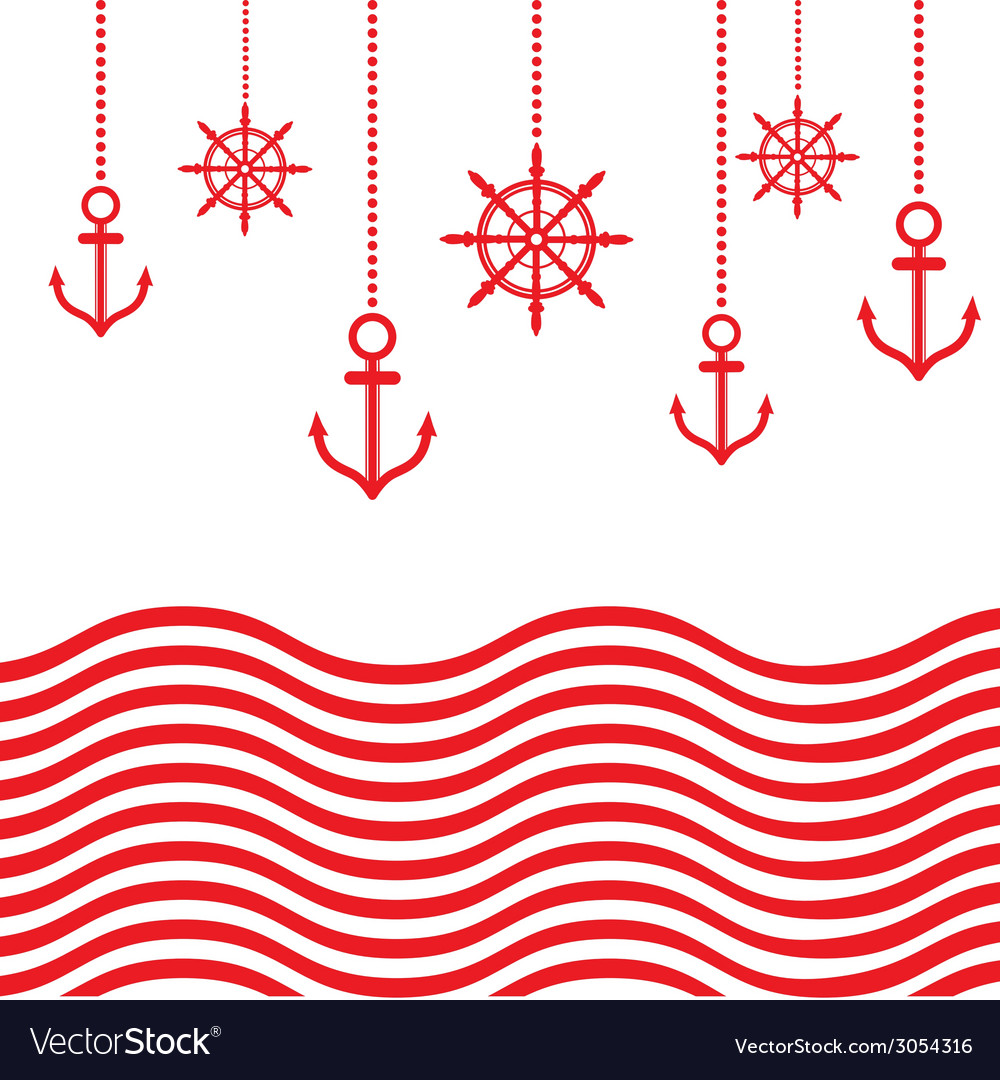 Design nautical template vector | Price: 1 Credit (USD $1)