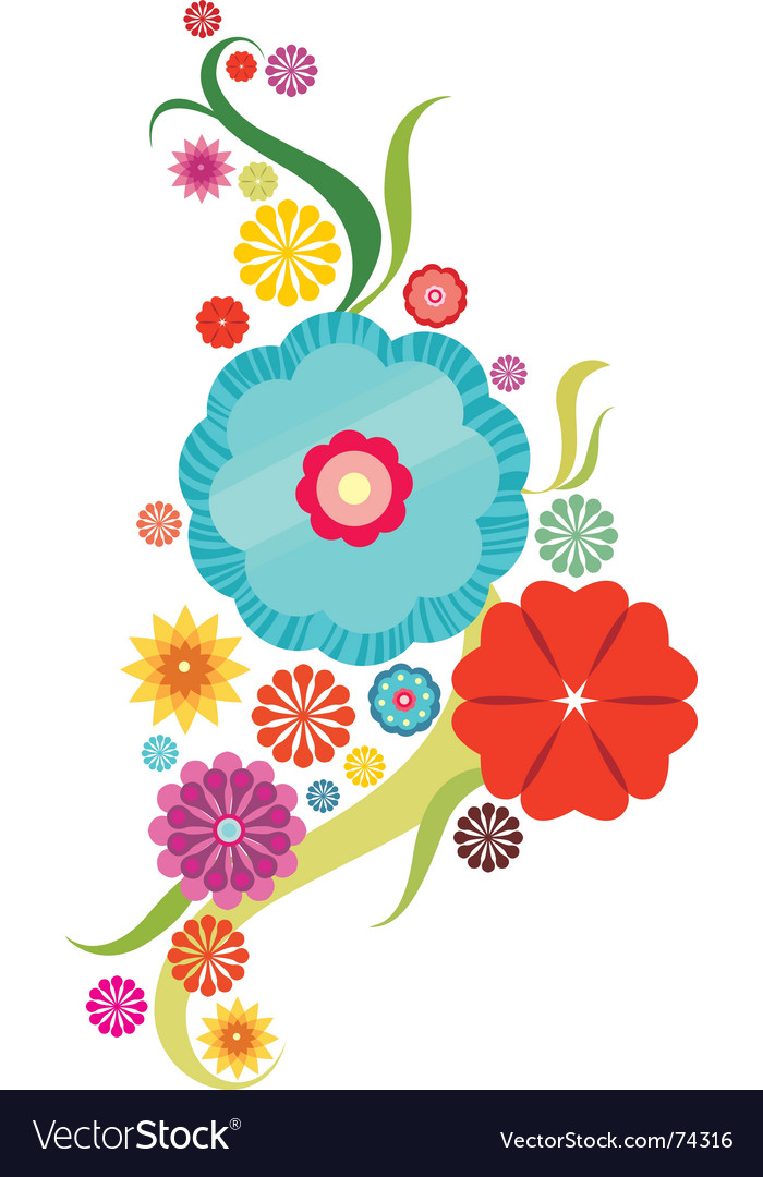 Flower abstract vector | Price: 1 Credit (USD $1)