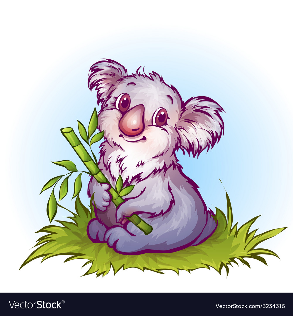 Koala in cartoon style vector | Price: 3 Credit (USD $3)