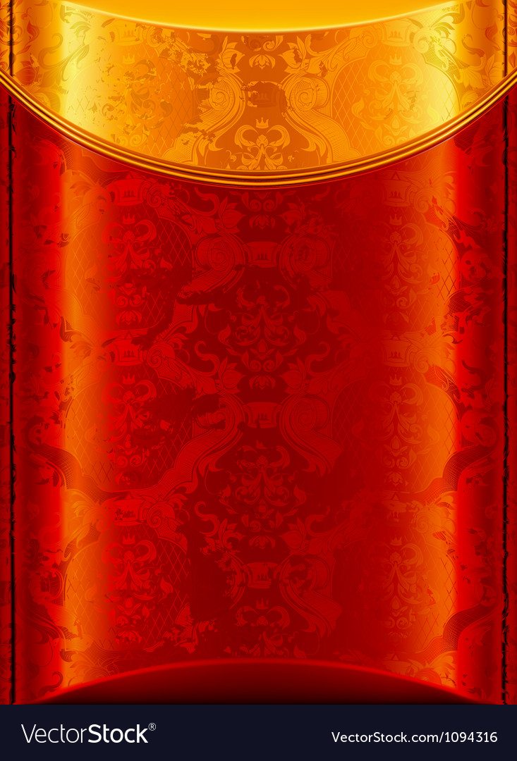Old gold and red background vector | Price: 1 Credit (USD $1)