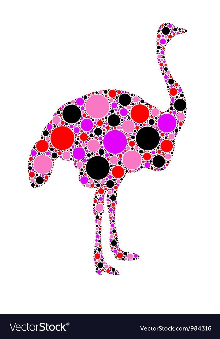 Ostrich silhouette vector | Price: 1 Credit (USD $1)