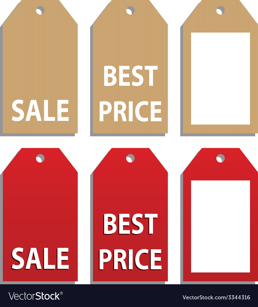 Sales tags vector | Price: 1 Credit (USD $1)