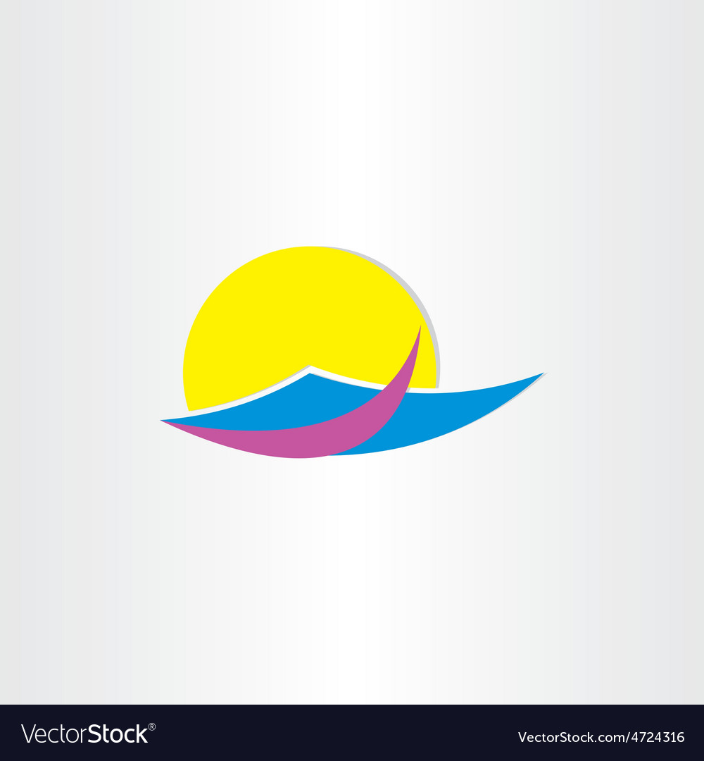 Tourism sun water and beach summer icon vector | Price: 1 Credit (USD $1)