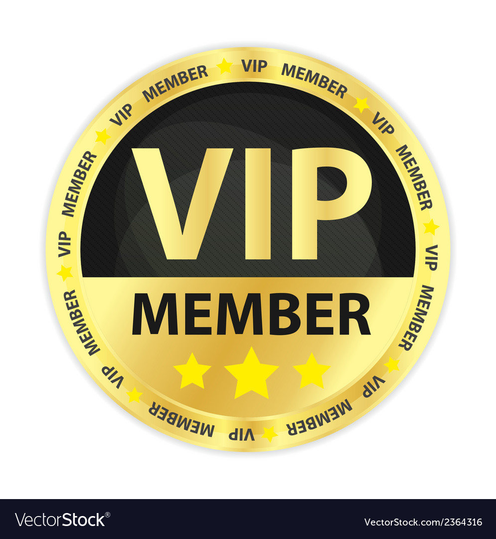 Vip member golden badge vector | Price: 1 Credit (USD $1)