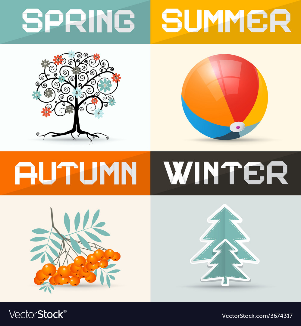 4 - four seasons vector | Price: 1 Credit (USD $1)