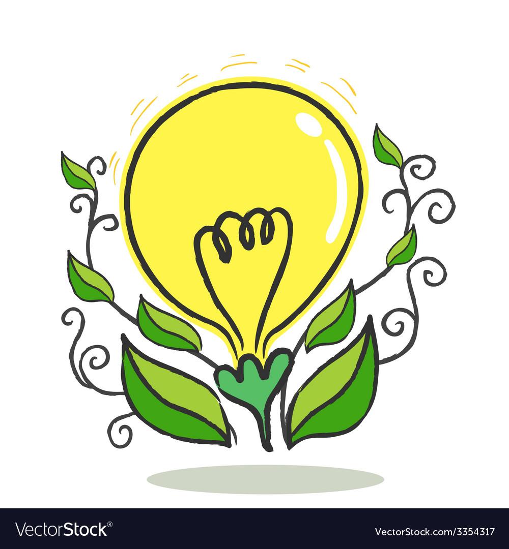 Flower bulb vector | Price: 1 Credit (USD $1)