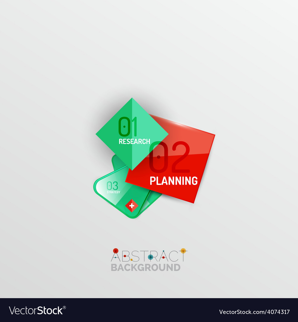 Geometric abstract shape infographic layouts vector | Price: 1 Credit (USD $1)