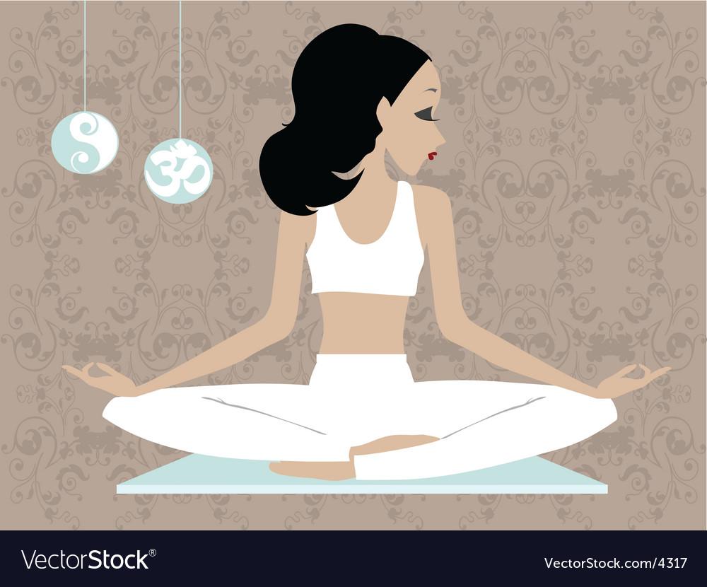 Miss boo yoga vector | Price: 3 Credit (USD $3)