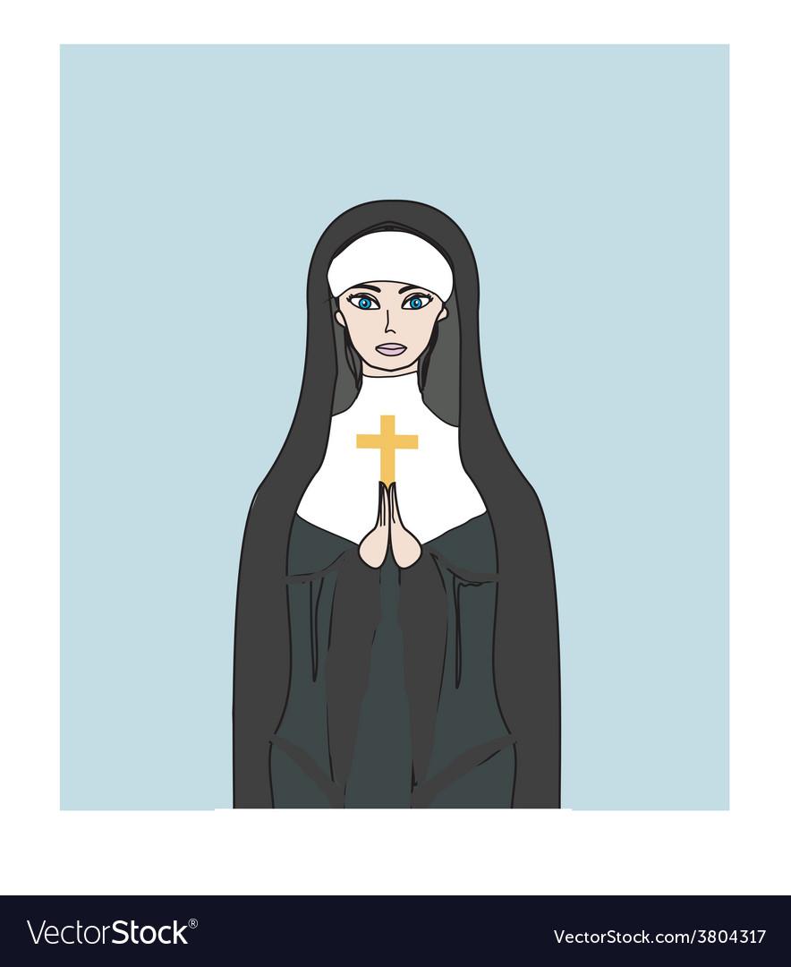 Nun vector | Price: 1 Credit (USD $1)