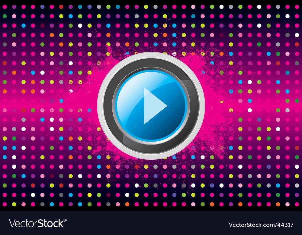 Play disco vector | Price: 1 Credit (USD $1)