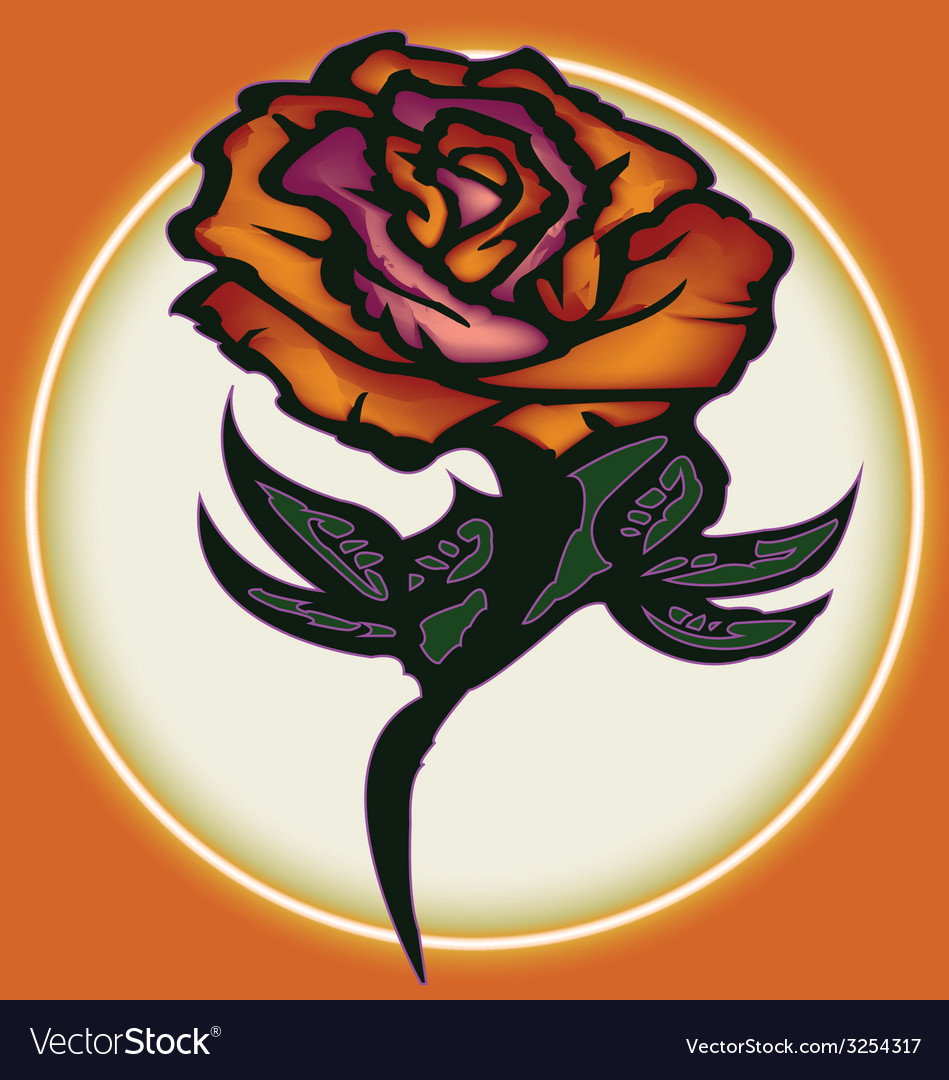 Rose tattoo vector | Price: 1 Credit (USD $1)