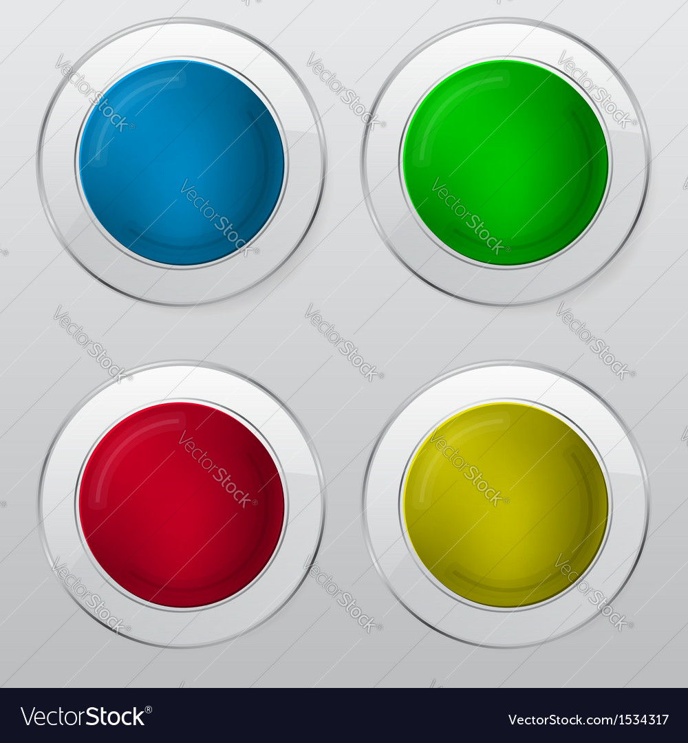 Set of four banners in different color vector | Price: 1 Credit (USD $1)