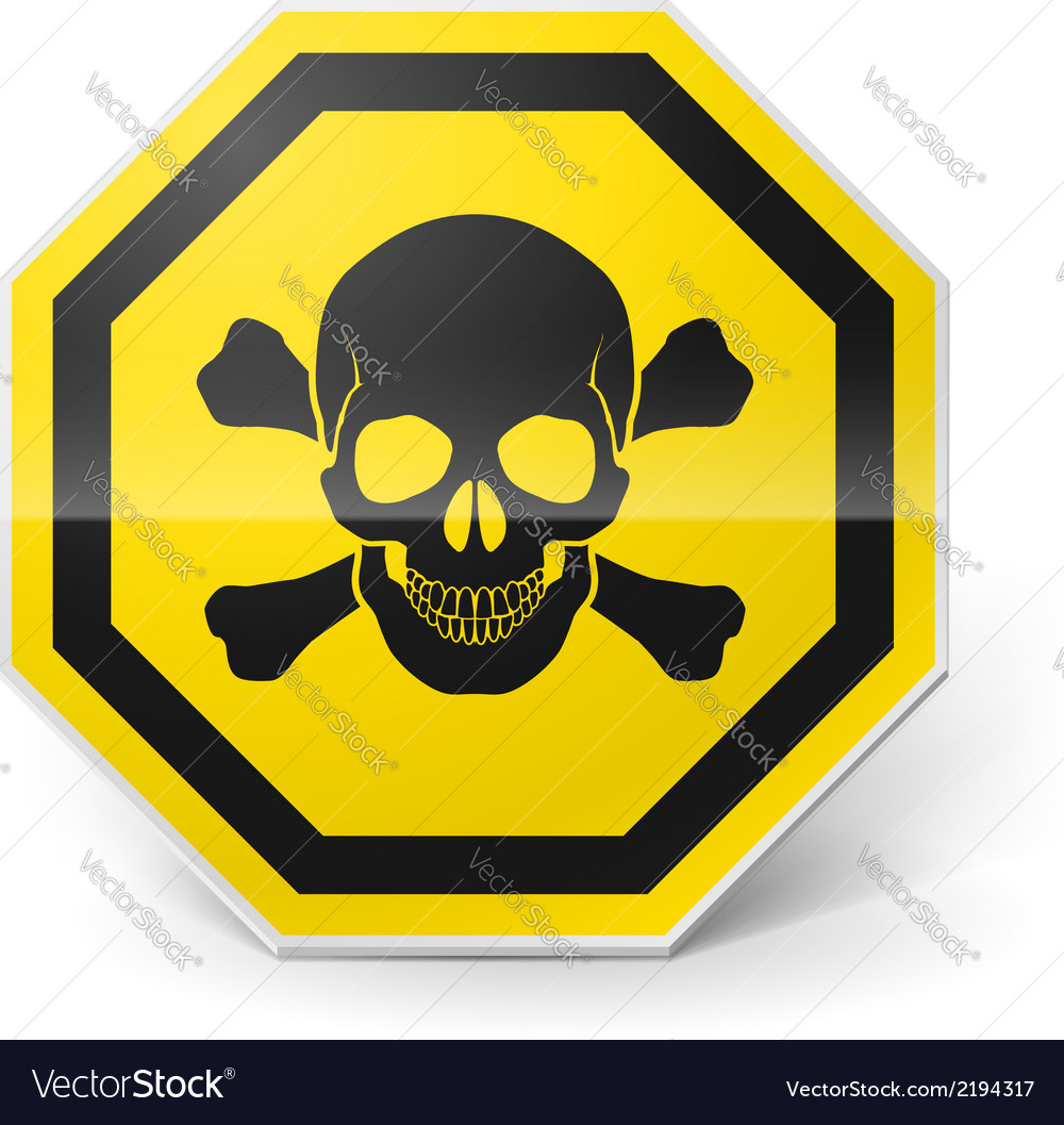 Sign with skull and crossed bones vector | Price: 1 Credit (USD $1)