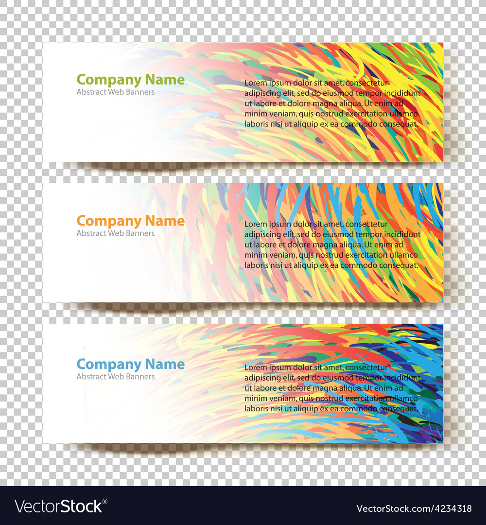 Abstract banners white vector | Price: 1 Credit (USD $1)