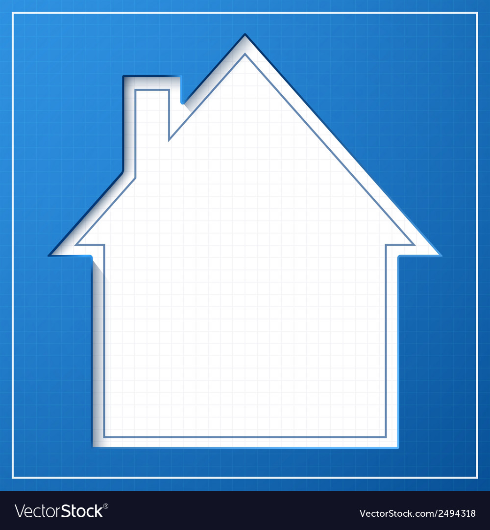 Abstract house background blueprint concept vector | Price: 1 Credit (USD $1)
