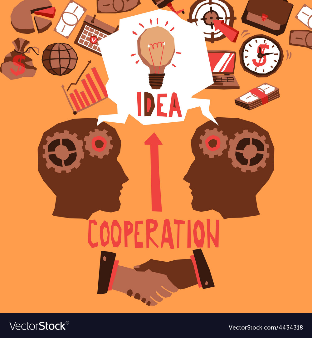 Business cooperation vector | Price: 1 Credit (USD $1)