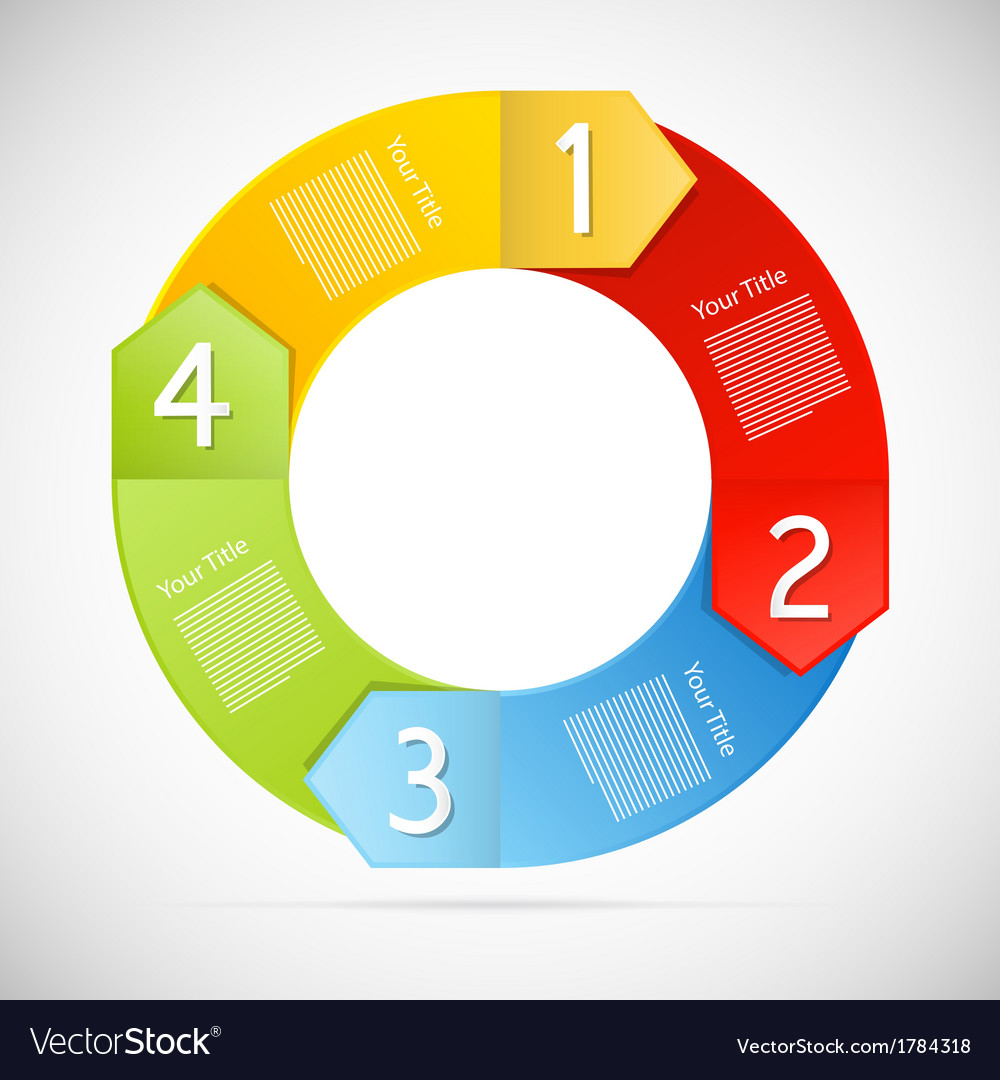 Colorful progress steps for tutorial infographics vector | Price: 1 Credit (USD $1)