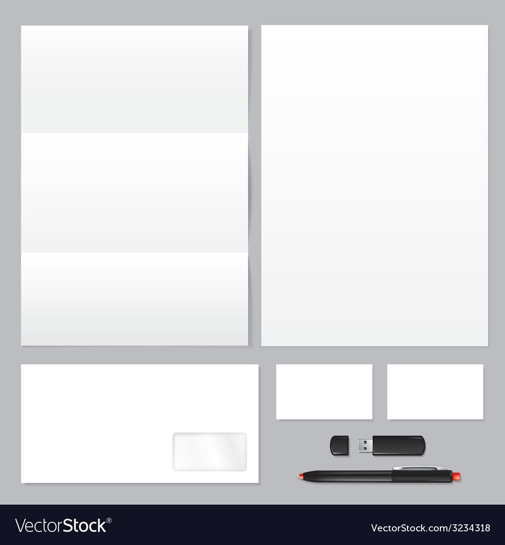 Corporate identity template set vector | Price: 1 Credit (USD $1)