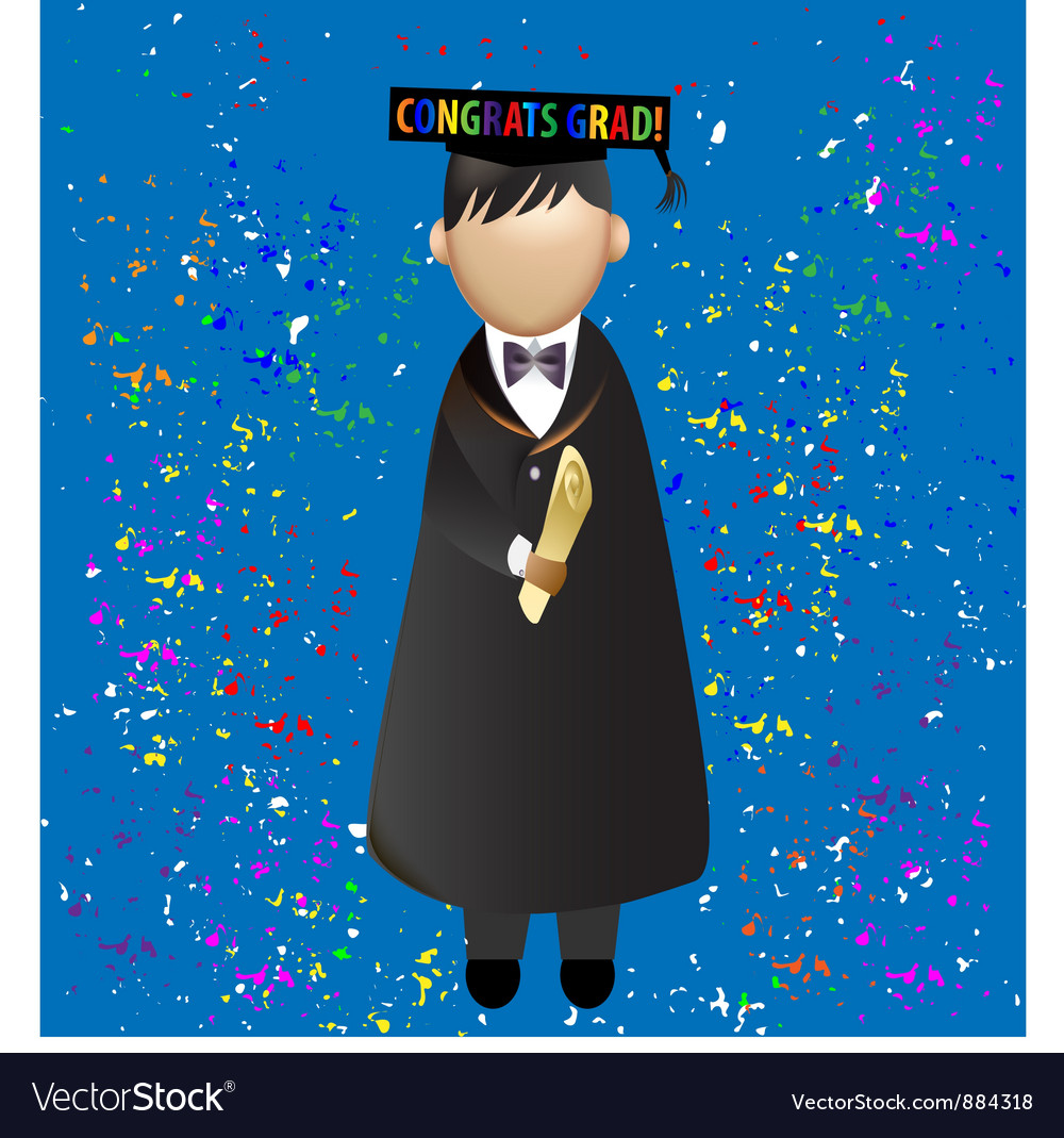 Graduation celebration vector | Price: 1 Credit (USD $1)