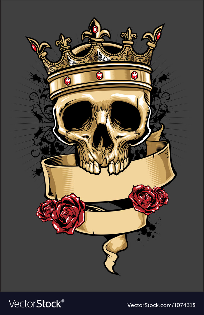 King of skull vector | Price: 3 Credit (USD $3)