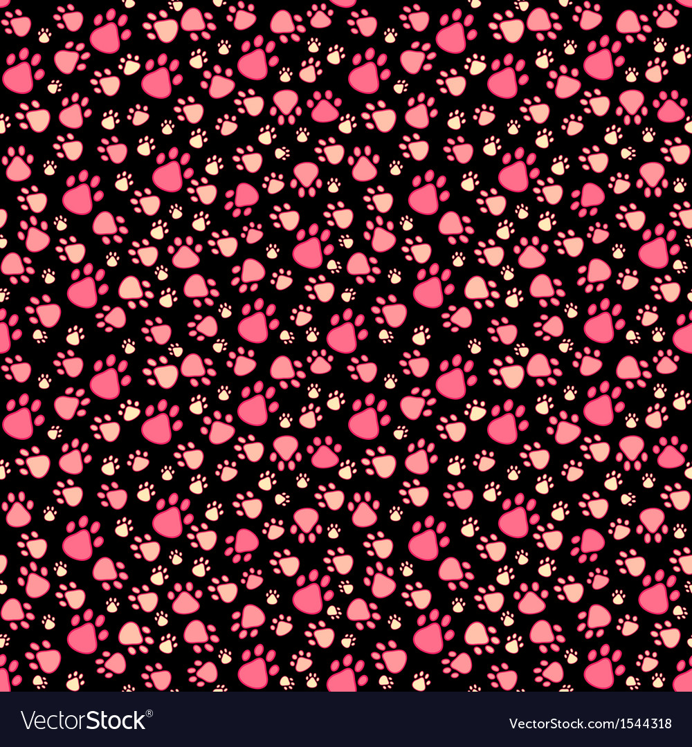 Pet paw seamless pattern vector | Price: 1 Credit (USD $1)