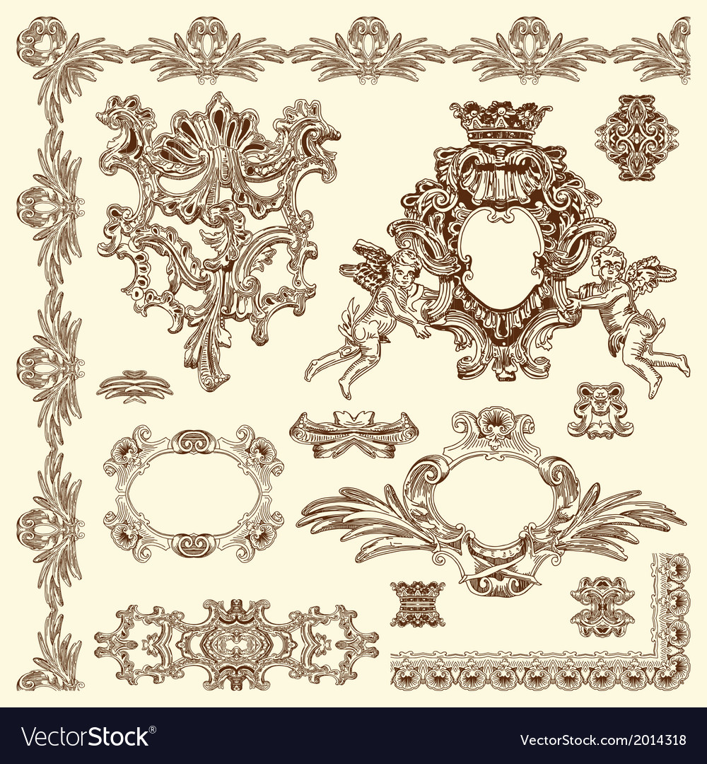 Vintage sketch ornamental design element vector | Price: 1 Credit (USD $1)