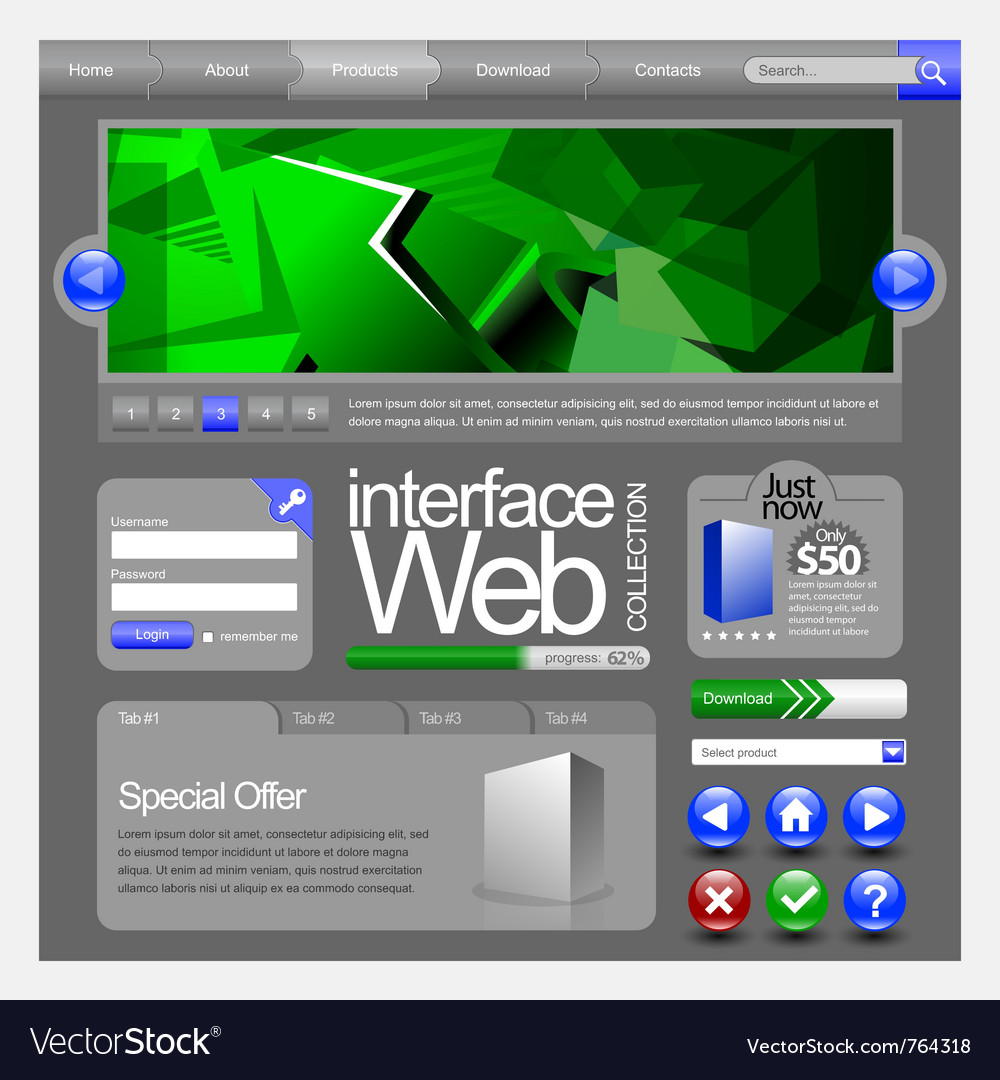Web ui elements vector   Price: 3 Credit (USD $3)