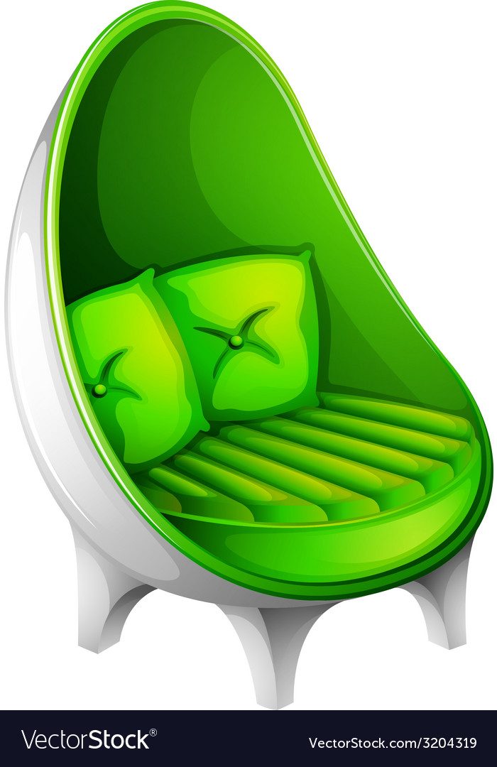 A green chair furniture vector | Price: 1 Credit (USD $1)