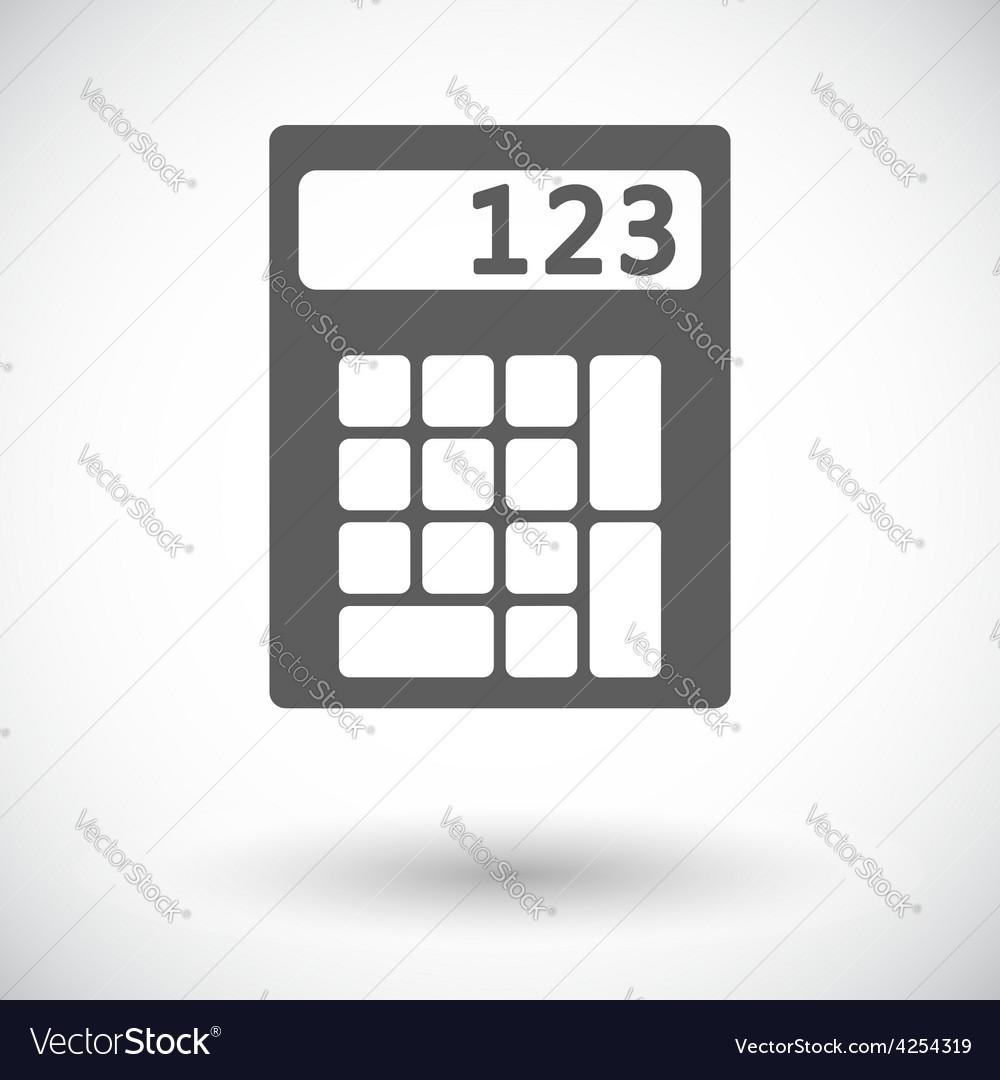 Calculator icon vector | Price: 1 Credit (USD $1)