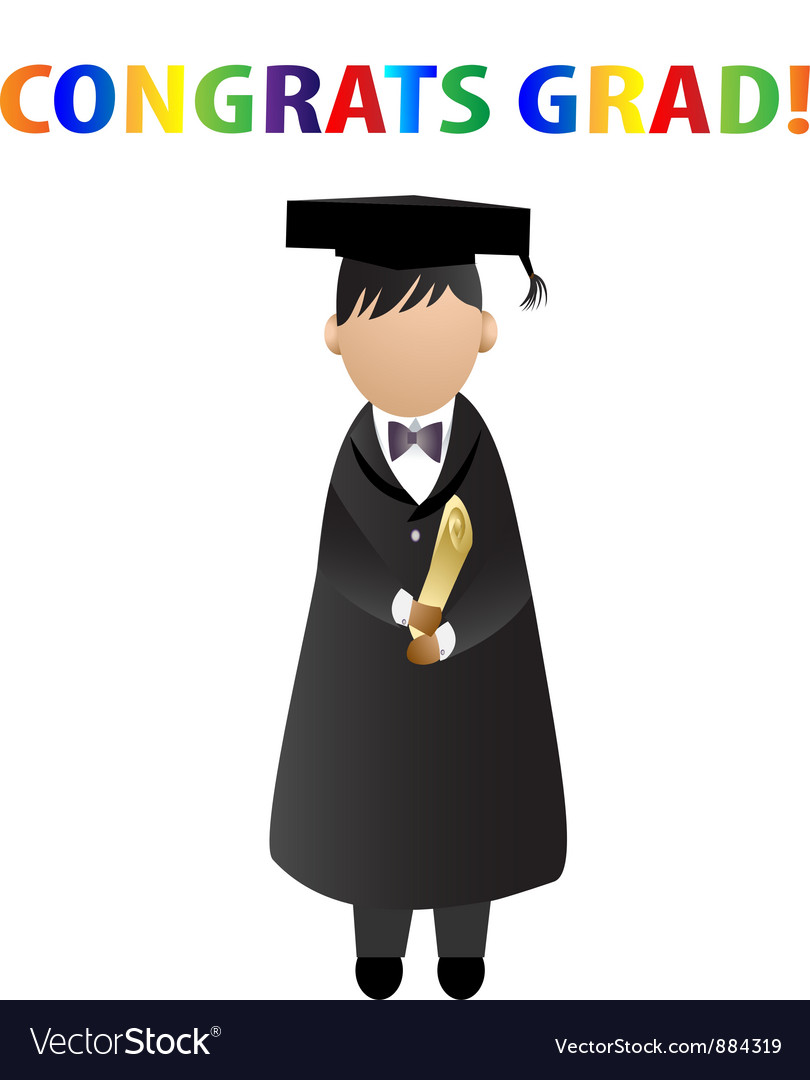 Congrats grad card vector | Price: 1 Credit (USD $1)