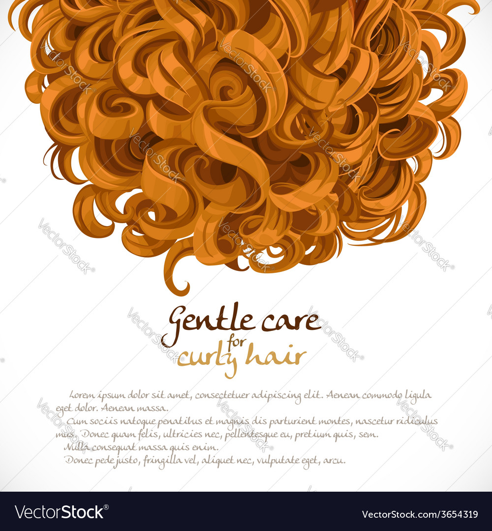 Curled hair background vector | Price: 3 Credit (USD $3)