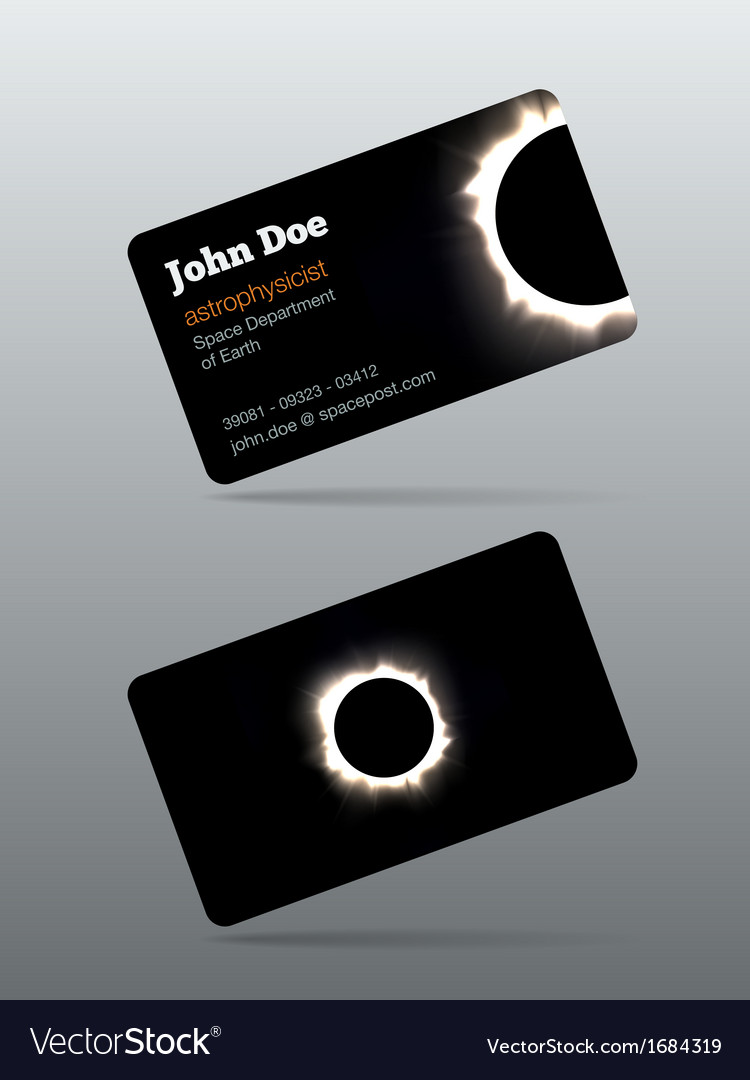 Eclipse calling card vector | Price: 1 Credit (USD $1)