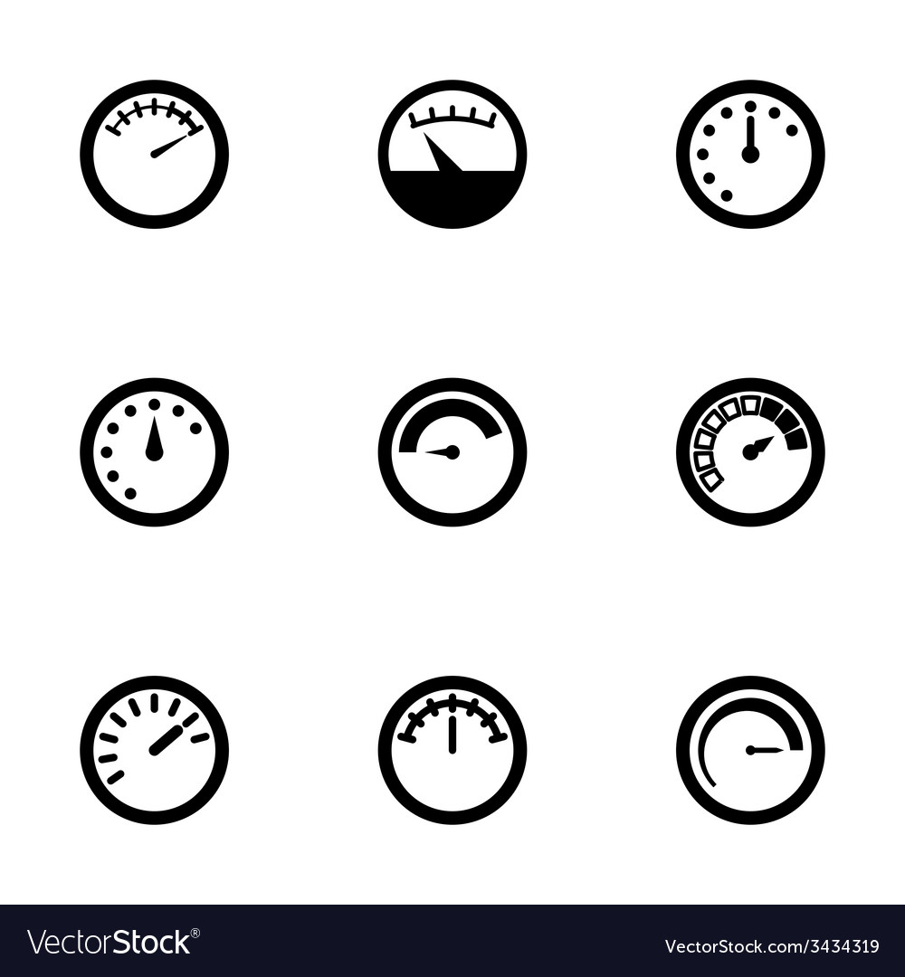 Meter icon set vector | Price: 1 Credit (USD $1)