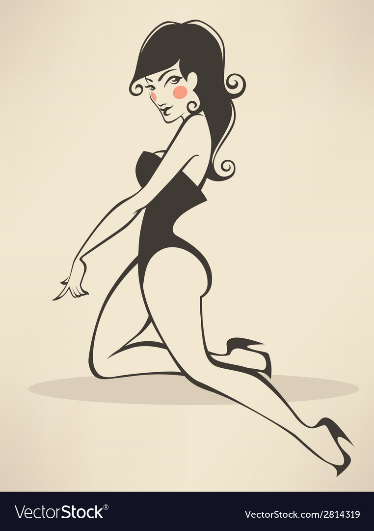 Pinup beauty vector | Price: 1 Credit (USD $1)