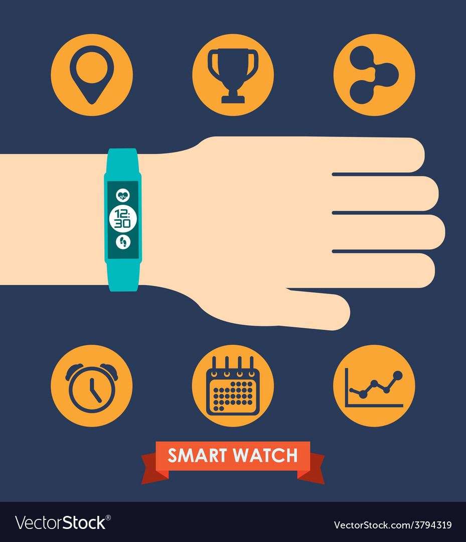 Smart wristband vector