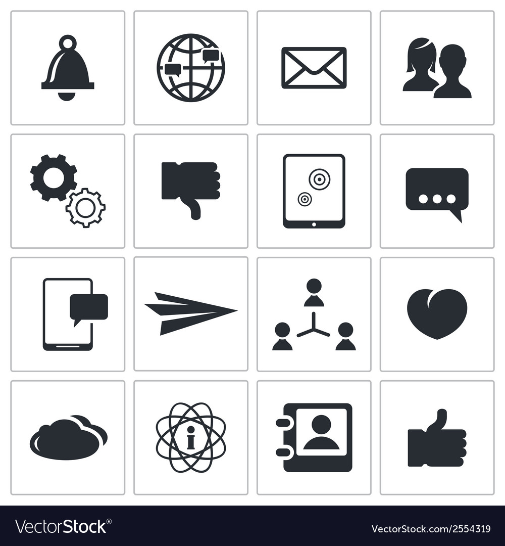 Social icons set vector | Price: 1 Credit (USD $1)