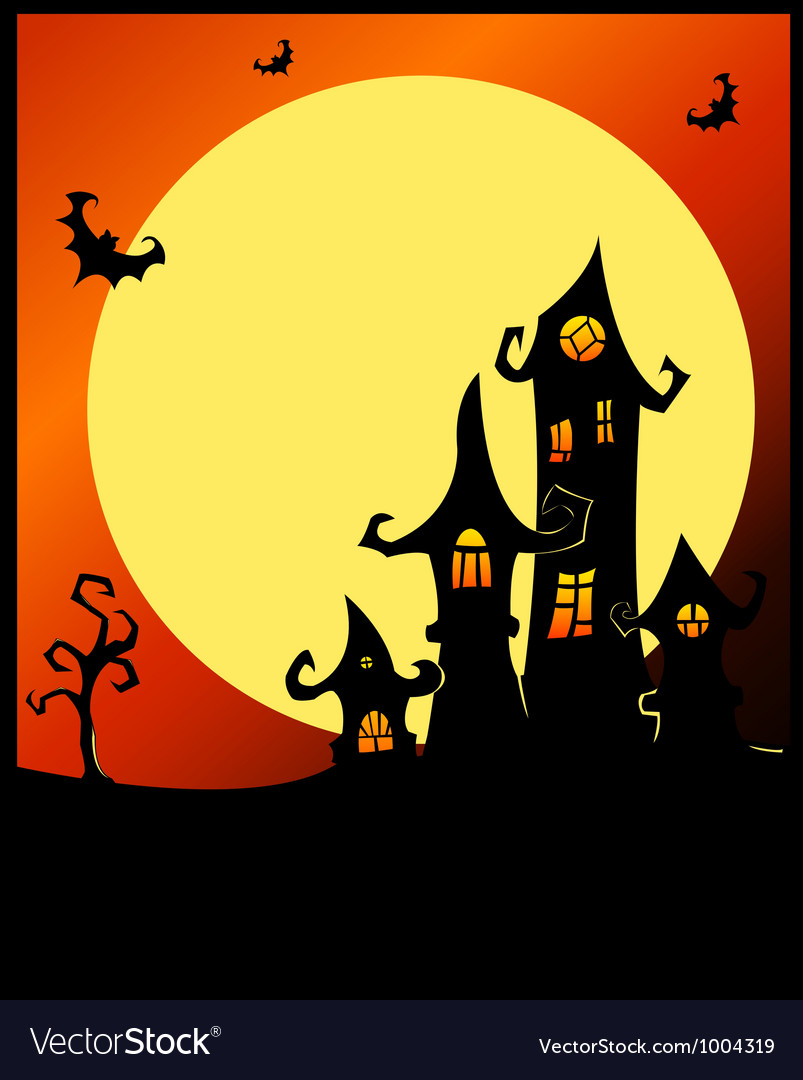 Terrible halloween castle vector | Price: 1 Credit (USD $1)
