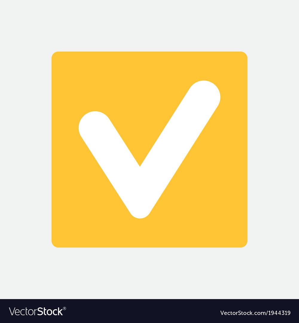 Tick icon vector | Price: 1 Credit (USD $1)