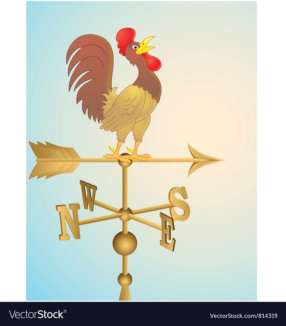 Weather vane vector | Price: 1 Credit (USD $1)