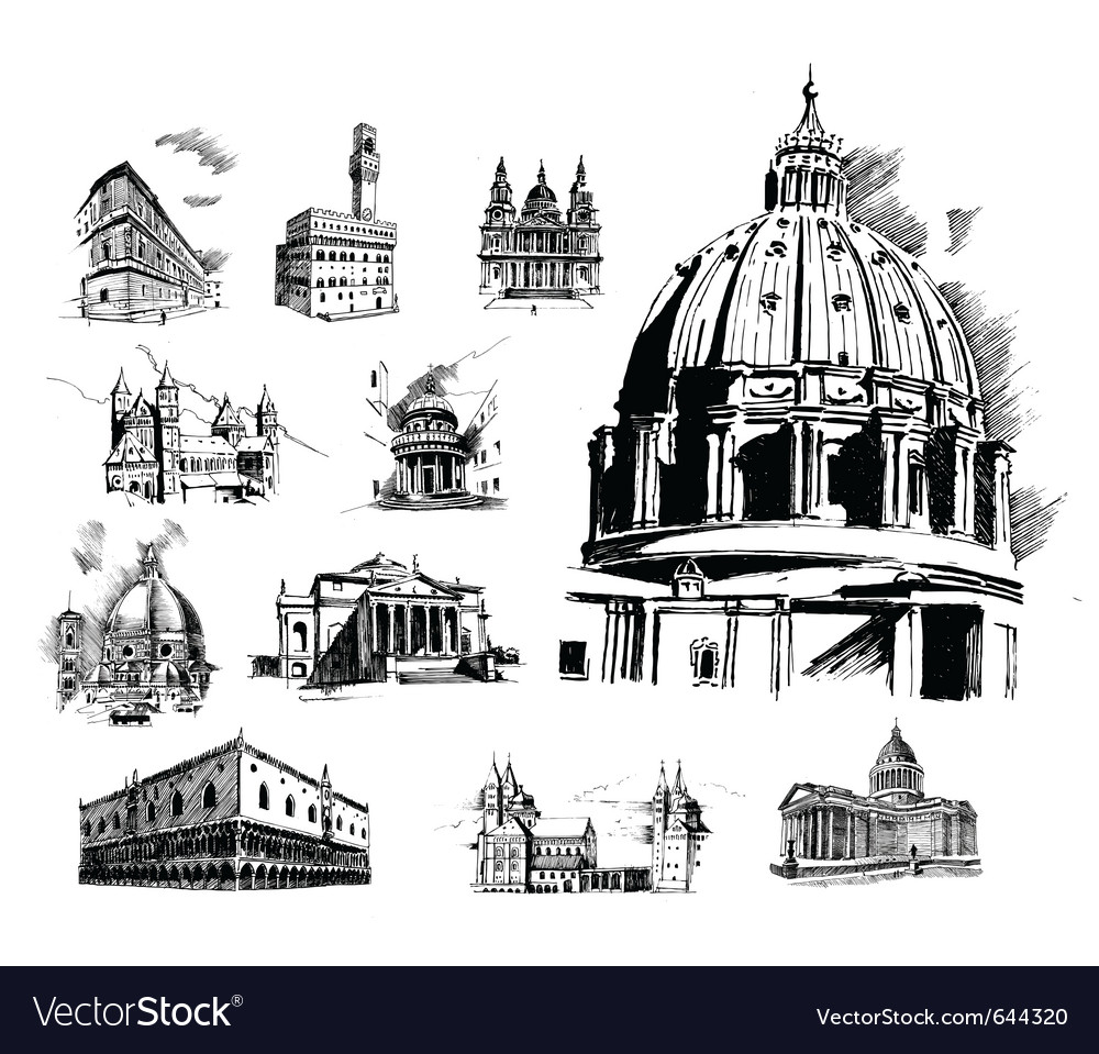Architectural features vector | Price: 1 Credit (USD $1)