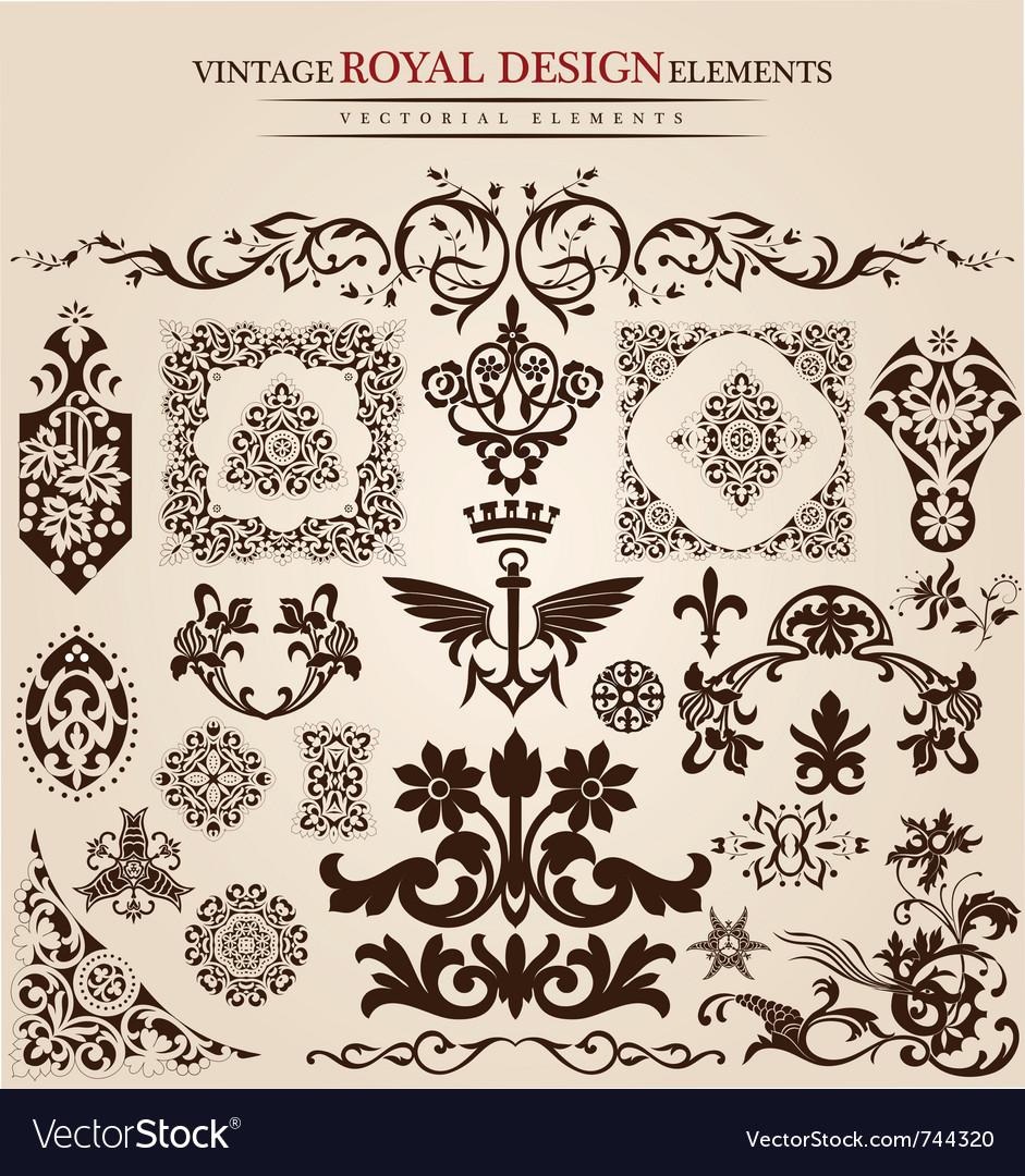 Flower vintage royal design vector | Price: 1 Credit (USD $1)
