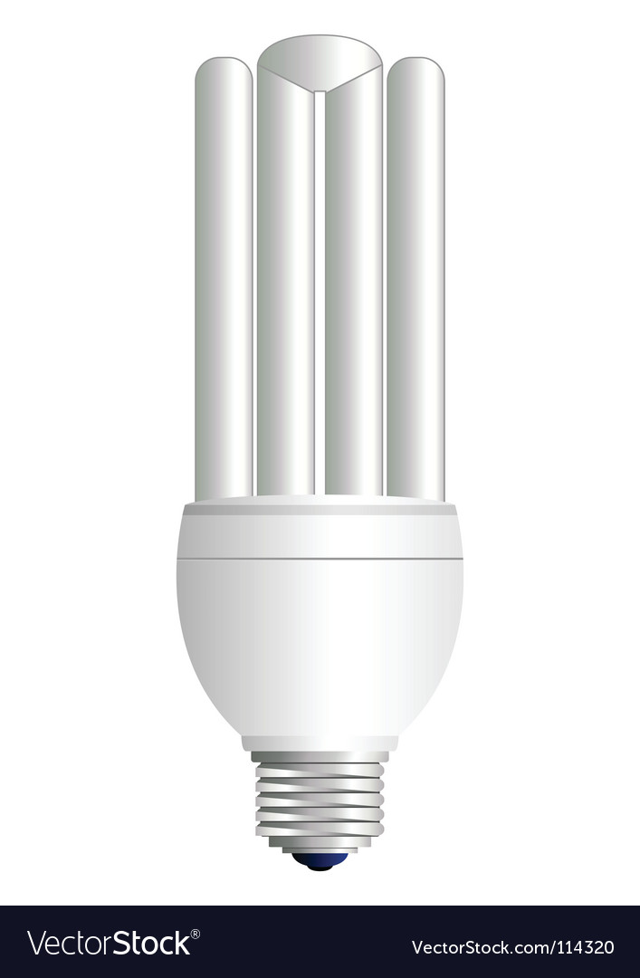 Fluorescent light bulb vector | Price: 1 Credit (USD $1)