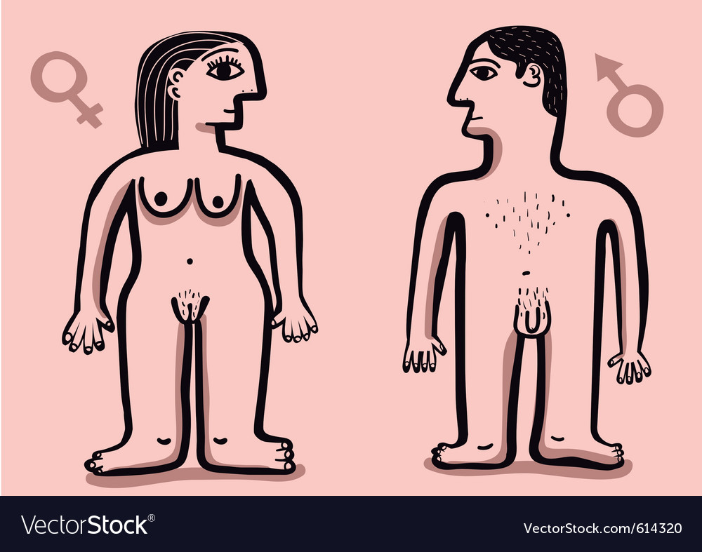 Human nude couple vector | Price: 1 Credit (USD $1)