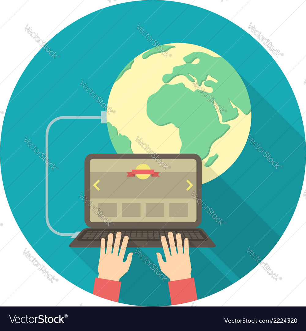 Internet connection concept vector | Price: 1 Credit (USD $1)