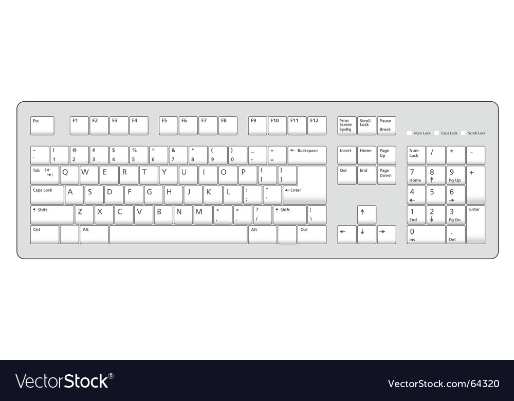 Keyboard vector | Price: 1 Credit (USD $1)