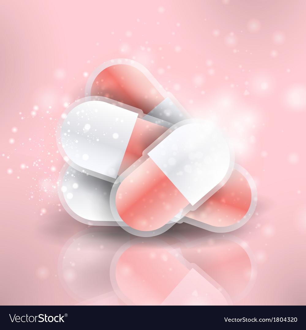 Medical pills vector | Price: 1 Credit (USD $1)
