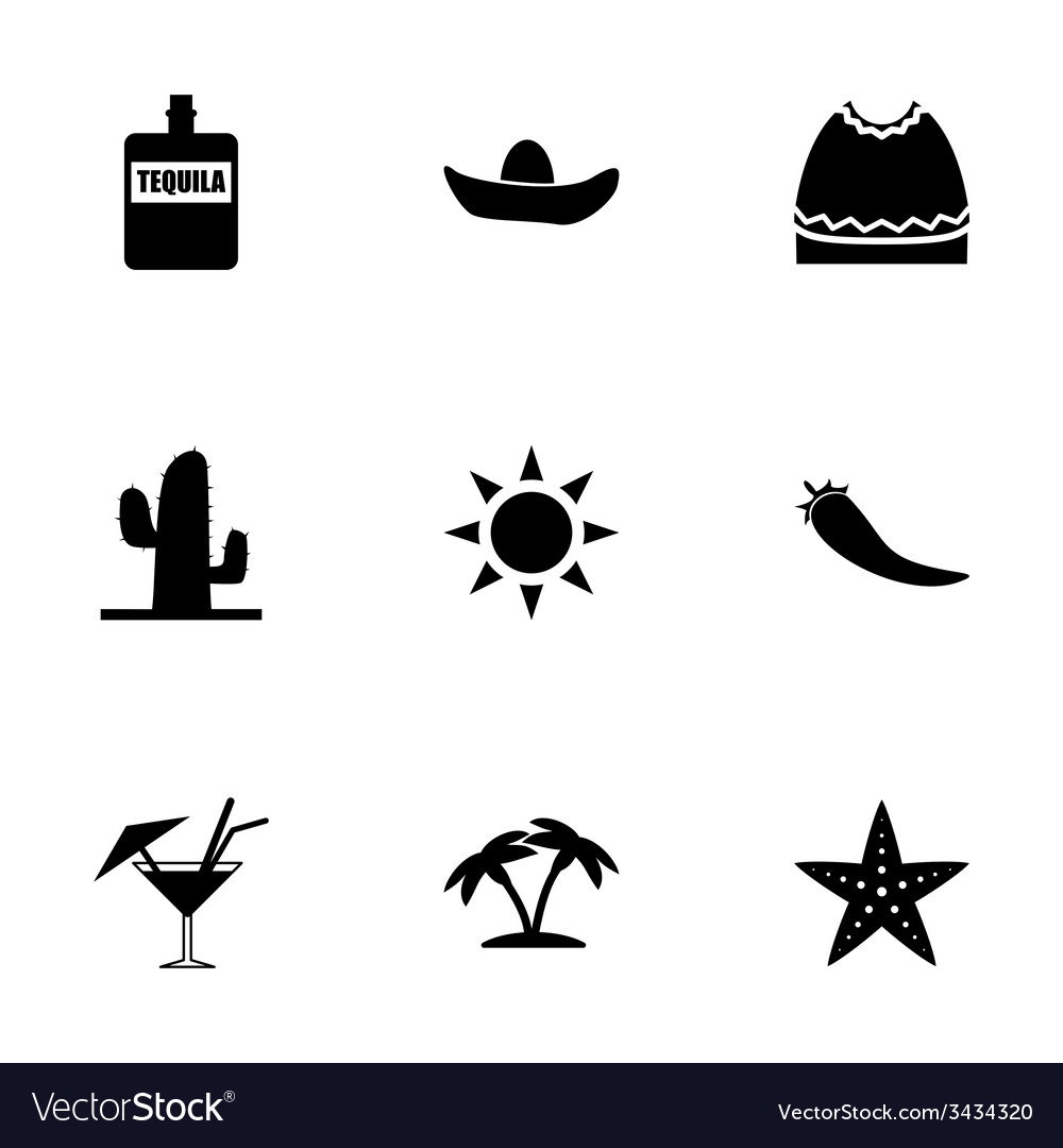 Mexico icon set vector | Price: 1 Credit (USD $1)