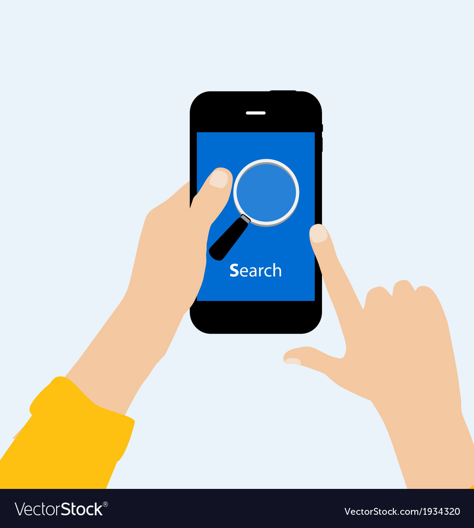 Search icon flat vector | Price: 1 Credit (USD $1)