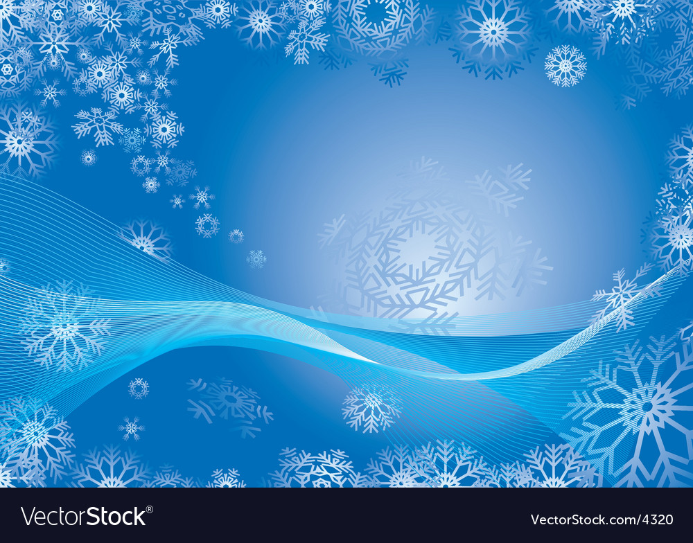 Snowflake abstract background vector | Price: 1 Credit (USD $1)