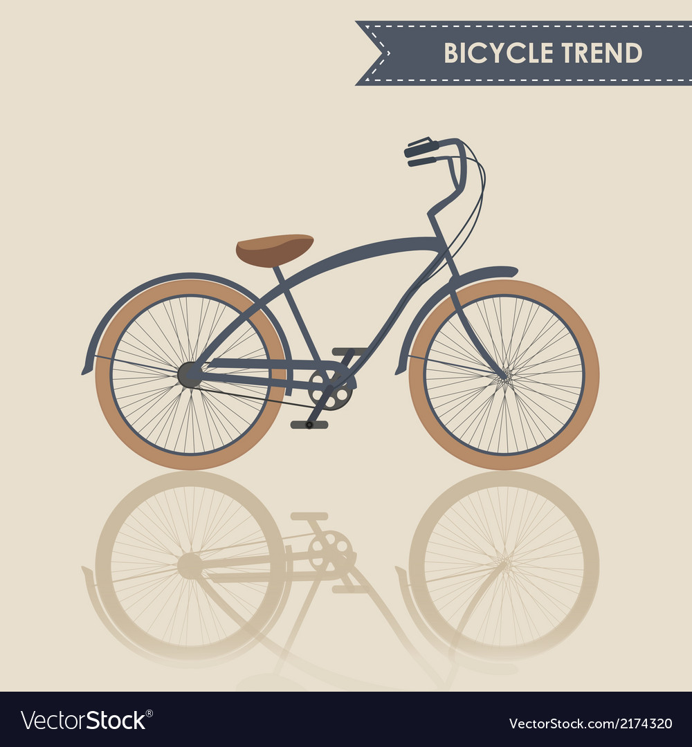Trendy bike vector | Price: 1 Credit (USD $1)